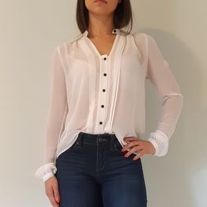 Guess Tops - Guess Sheer White Blouse